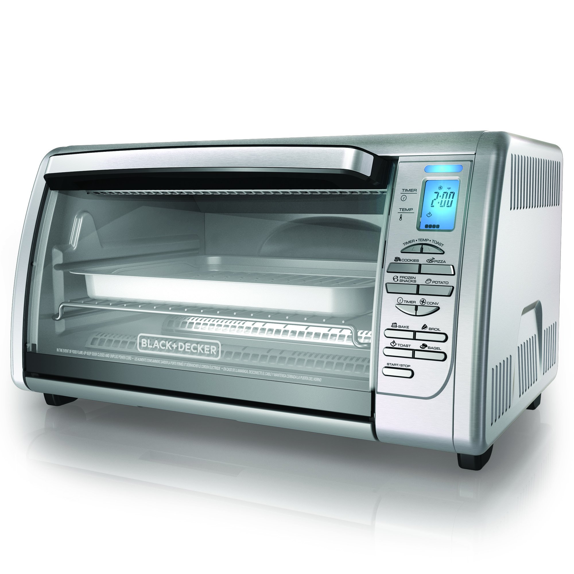 Convection Countertop Oven Stainless Steel : ... +DECKER CTO6335S Stainless Steel Countertop Convection Oven, Silver