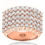 Unique 14K Gold Mens Diamond Rings Collection Piece by Luxurman (Rose Gold Size 12.5)