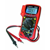 Triplett True RMS CAT III 6000 Count Digital Multimeter - AC/DC Voltage, AC/DC Current, Resistance, Continuity, Diode Test, and Capacitance (9045) (Color: Red)