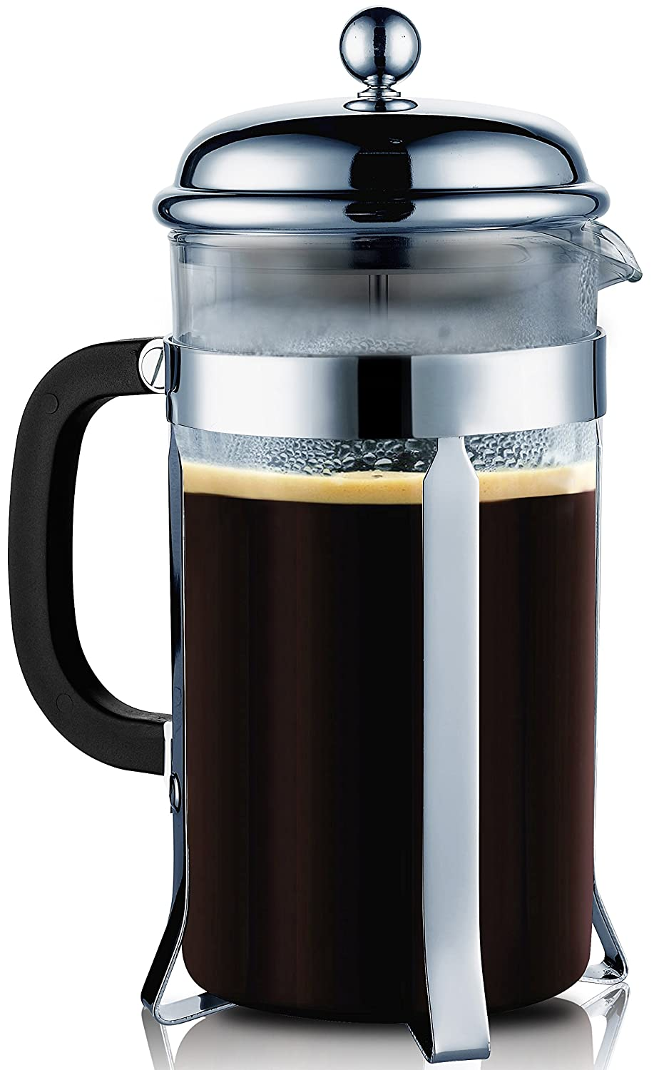 New French Press Coffee Espresso Maker 8 Cup Sterling Steel 34 oz Durable Cafe eBay