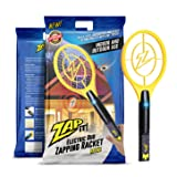 Zap-it! Mini Bug Zapper - Rechargeable Mosquito, Fly Killer and Bug Zapper Racket - 4,000 Volt - USB Charging, Super-Bright LED Light to Zap in the Dark (Racket)