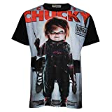 Topcloset Chucky Doll Halloween Killer Movie Men Unisex Shirt Medium Black (Color: Black, Tamaño: Medium)