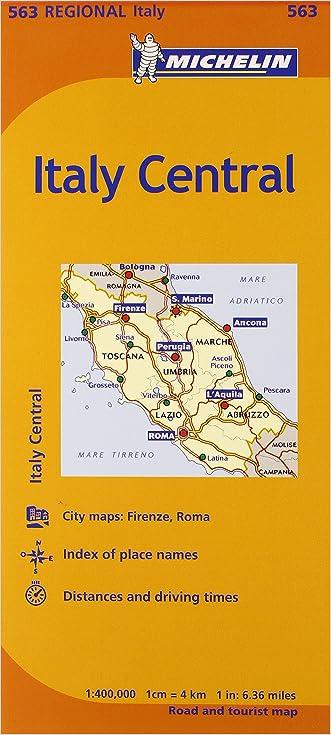 Michelin Road Map No. 563 Toscana - Umbria - Lazio - Marche - Abruzzo (Italy)