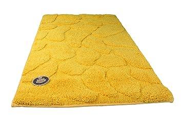 g zze 1032 13 070120 tapis de de bain ponge jaune 70 x 120 120 cm cuisine maison m245. Black Bedroom Furniture Sets. Home Design Ideas