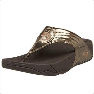 FitFlop Womens Walkstar 3 Metallic Sandal