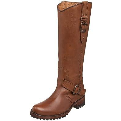 Dark Brown Leather Boots Women