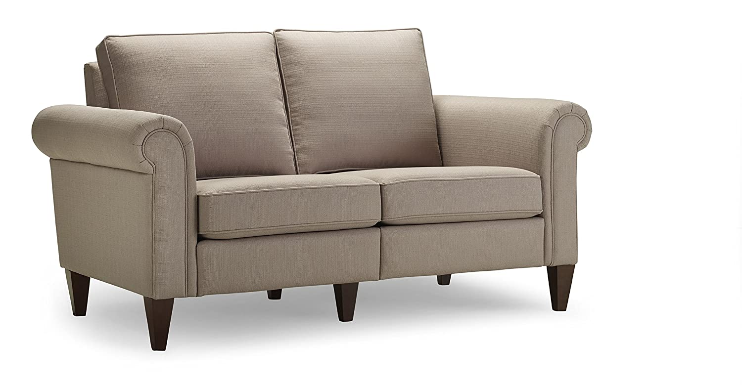 Homeware Avery Loveseat - 37 by 61.75 by 34-Inch - Bisque