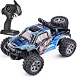 SIMREX A240 RC Cars High Speed 20MPH Scale RTR Remote Control Brushed Monster Truck Off Road Car Big Foot RC 2WD Electric Power Buggy W/2.4G Challenger Blue