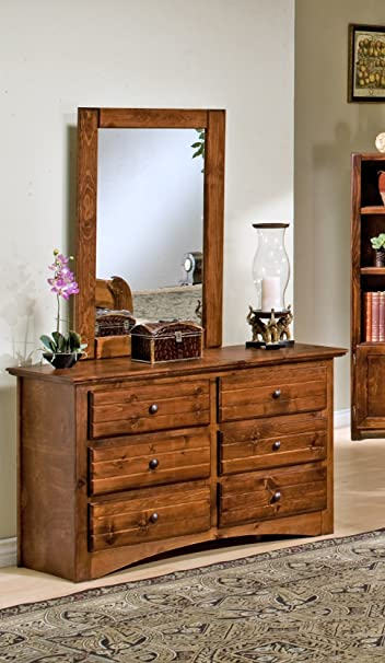 6 Drawer Dresser with Mirror by Chelsea Furniture