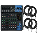 Yamaha MG10XU 10 Input (w/Compression, Effects, and USB) Stereo Mixer w/4 XLR Ca (Color: Black)