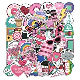 Girl Cute Lovely Laptop Stickers Water Bottle Skateboard Motorcycle Phone Bicycle Luggage Guitar Bike Sticker Decal 60pcs Pack (Color: A)