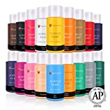 Acrylic Paint Set by Color Technik, Artist Quality, New Colors, 18x59ml (2-Ounce) Bottles, Best Colors for Painting Canvas, Wood, Clay, Fabric, Nail Art & Ceramic, Rich Pigments, Heavy Body, Gift Box (Color: Titanium White, Yellow Pale, Deep Yellow, Porcelain, Brilliant Red, Pink, Peach Red, Rose, Burnt Ye)