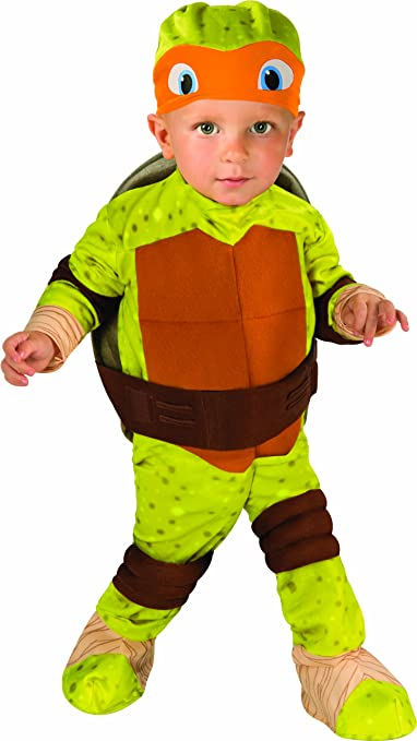 Nickelodeon Ninja Turtles Michelangelo Romper Shell and Headpiece, Green, Toddler