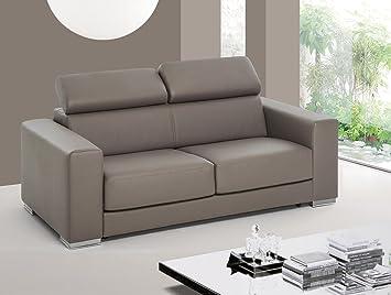 """Sofá cama 2 asientos maxi """"George"""" con reposacabezas ajustable listo para la entrega 209 x 99 x 95 - Made in Italy"""