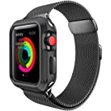 For Apple Watch Band 38mm, Milanese Loop for iWatch Bands 38mm Women Series 3 2 1 Black (Color: d-38mm black)