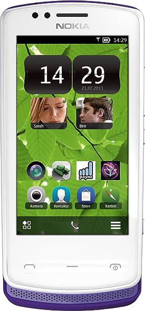Nokia 700 Smartphone -  Ecran tactile 8,1 cm -3,2 pouces - Appareil photo 5 mégapixels - HSDPA- 2 Go - Blanc/Violet (Import Allemagne)
