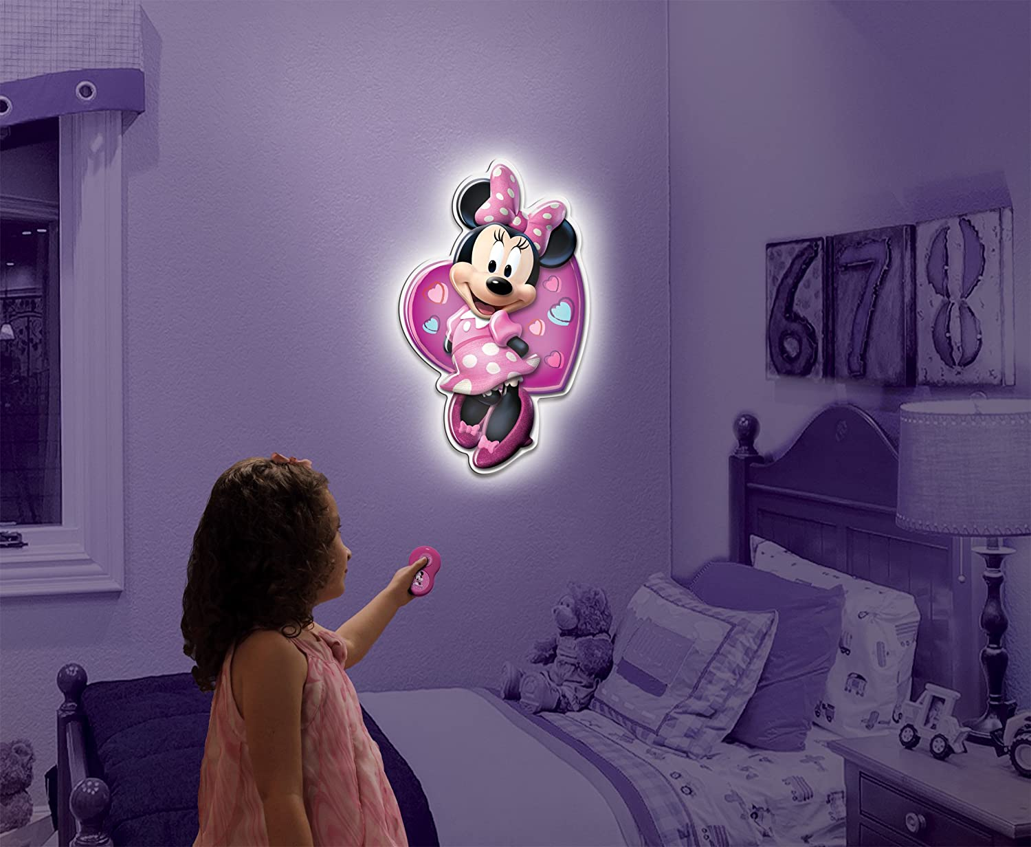 Uncle Milton Wall Friends Minnie Mouse, Talking Room Light