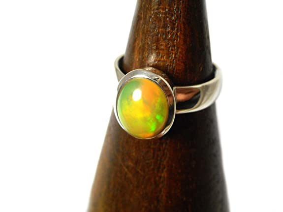 Ethiopian Welo OPAL Sterling Silver 925 Ring - Size P / 7.5 - (EOR2005161)