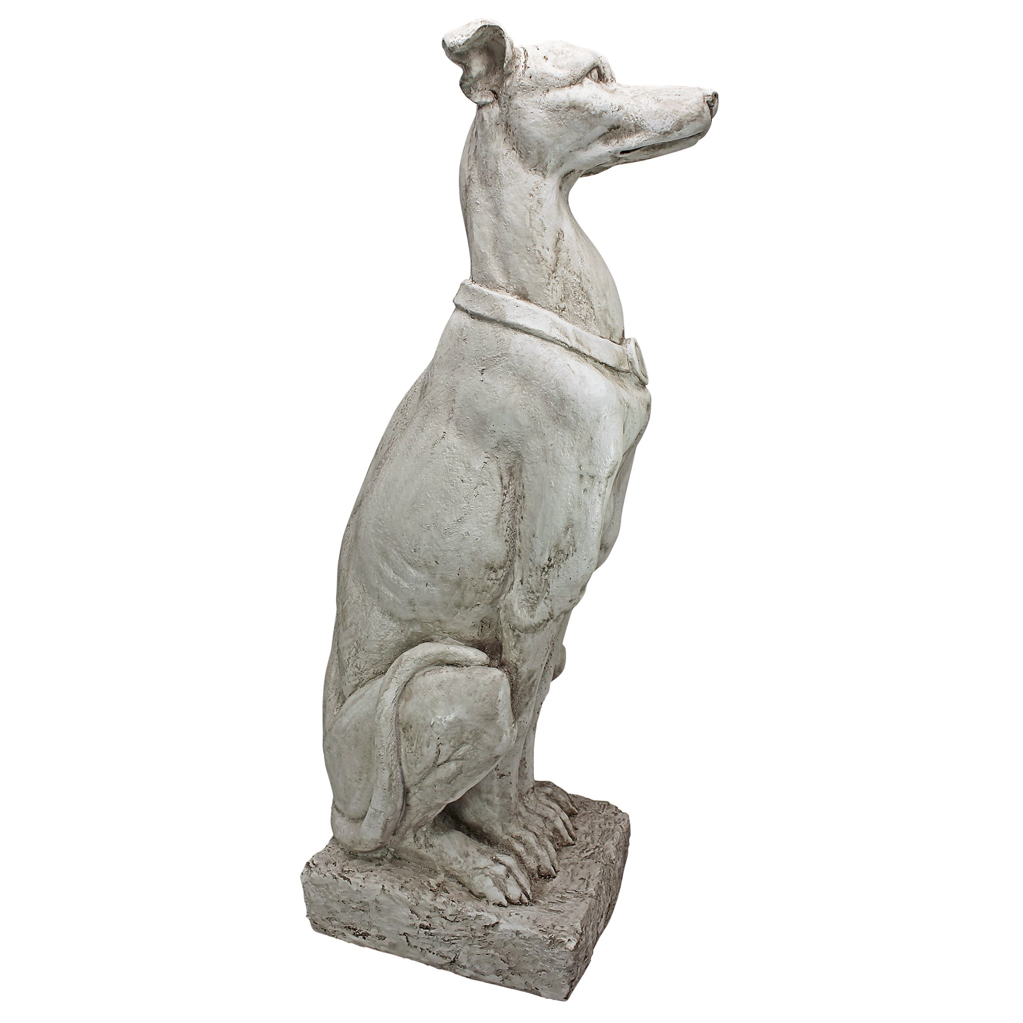 design toscano art deco whippet greyhound sentinel dog statue ebay. Black Bedroom Furniture Sets. Home Design Ideas