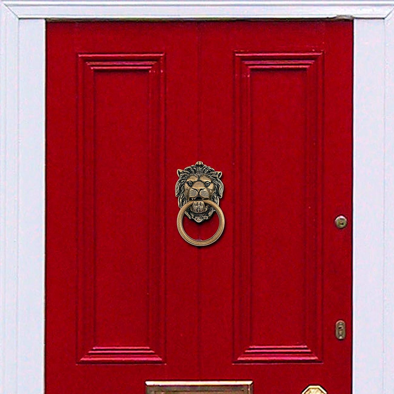 Bosetti Marella 100977.07 Brass Door Knocker, 4.29-by-7.48-Inch, Antique Brass Light 1