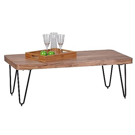 Wohnling wl1,512 solida Acacia-Tavolino da caffè in legno, 115 x 60 x 40 cm