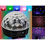 DMX512 Stage Lighting Digital LED RGB Crystal Magic Ball Disco DJ Effect Light