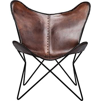Kare Fauteuil butterfly Eco cuir vintage