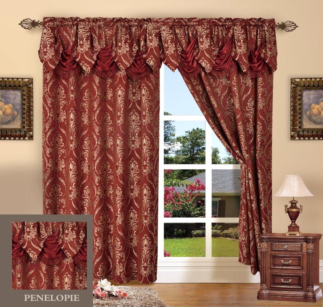 Set of 2 Penelopie Jacquard Look Curtain Panels