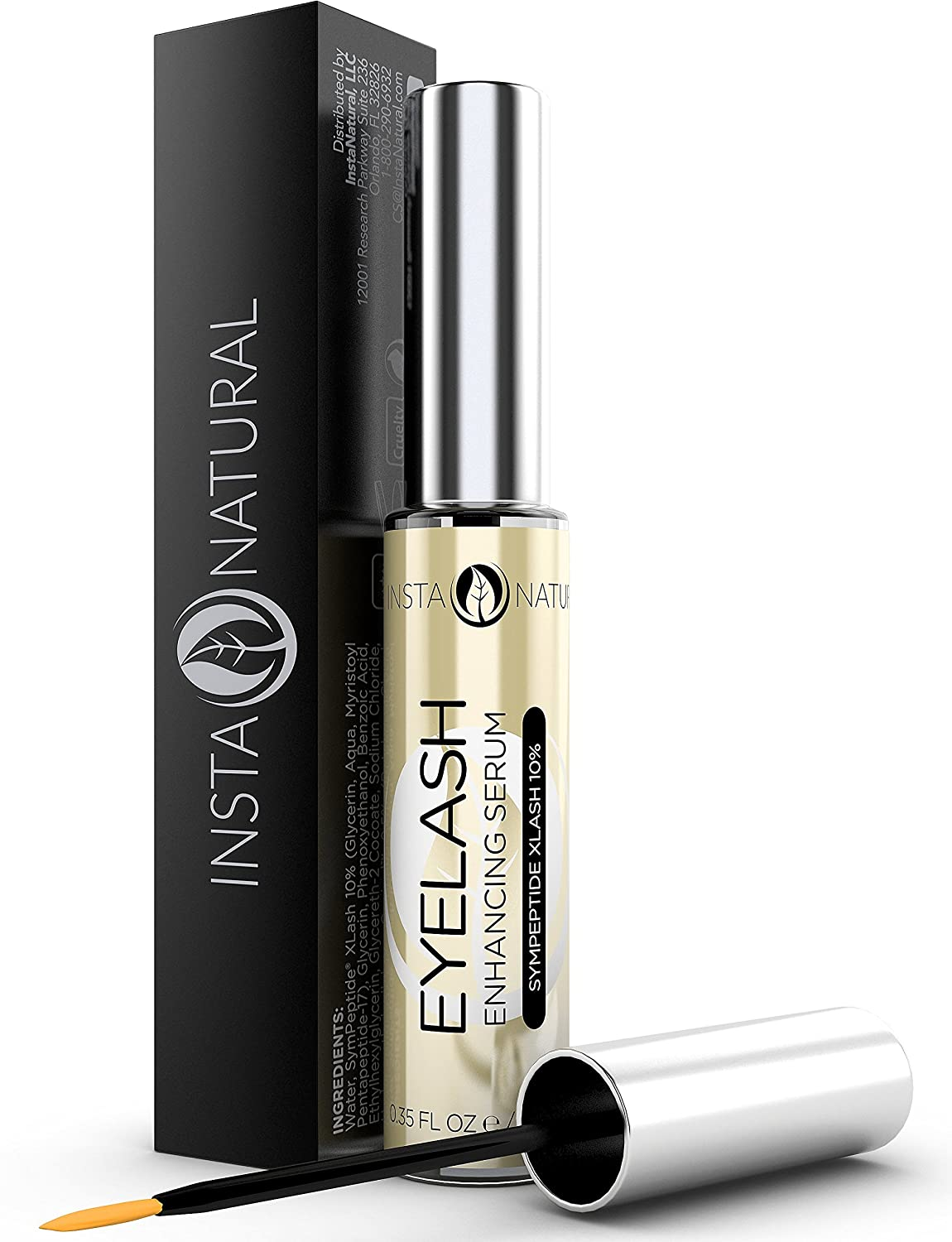 Eyelash & Eyebrow Growth Serum 10ML Best Lash Enhancing Treatment for Longer, Fuller Eyelashes & Thicker Eyebrows - With Pentapeptide-17 & Clinically Proven SymPeptide XLash Formula