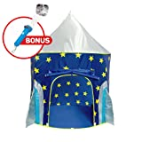 """Kids Play Tent for Boys and Girls - """"USA Toyz Rocket Ship"""" Kids Tent + Playhouse Tent Toddler Toys Projector for Indoor Tent or Outdoor Tent for Kids"""