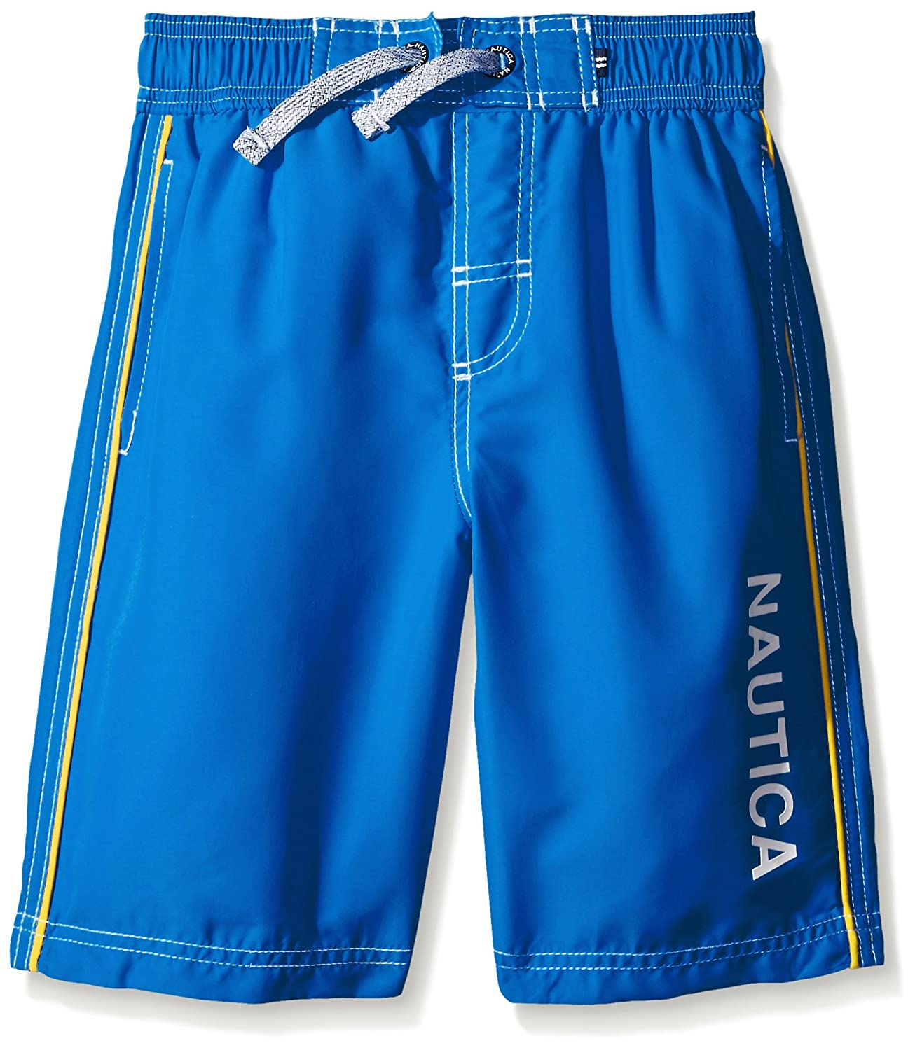Nautica Boys Marled D-String With Side Piping Swim Trunk