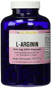 Gall Pharma L-Arginin 500 mg GPH Kapseln 290 Stuck