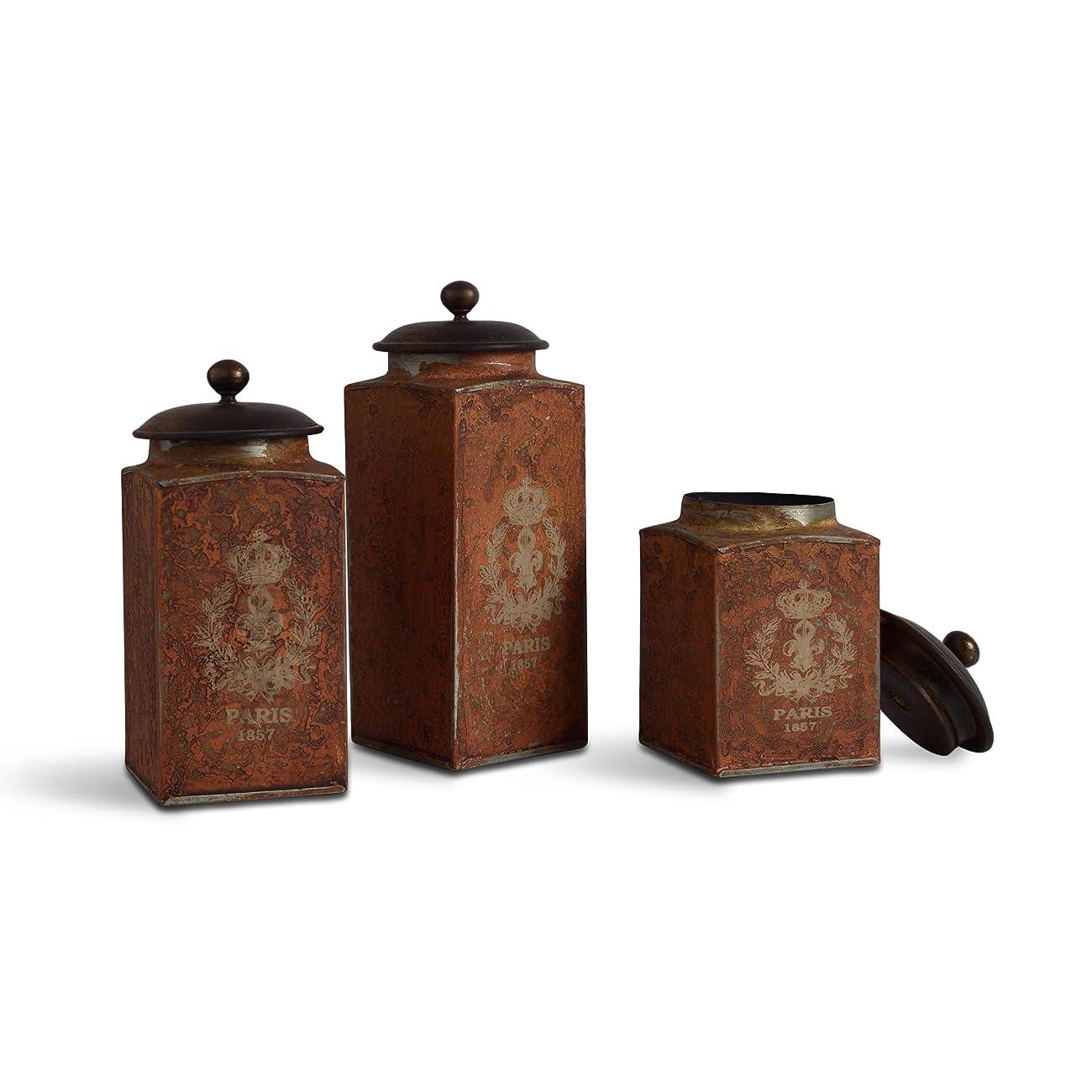 FABULIV Vintage Paris Orange Antique Boxes 0