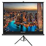 The First Projector Screen with Stand No Odor, OWLENZ Indoor and Outdoor Movie Screen 100 inch Diagonal 4:3 with Premium Wrinkle-Free Design (Easy to Clean, 1.1 Gain, 160° Viewing Angle) (Color: Ps-v43-h100.)