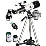 Gskyer Telescope, Travel Scope, 70mm Aperture 400mm AZ Mount Astronomical Refractor Telescope for Kids Beginners AZ 70400 (Tamaño: AZ70400)
