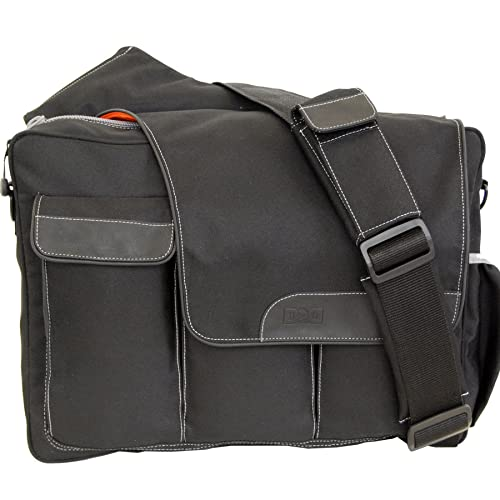 Diaper Dude Messenger II Diaper Bag, Black