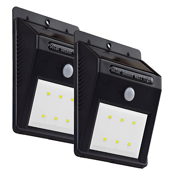 Double four solar led lights outdoor waterproof security motion double four solar led lights outdoor waterproof security motion sensor light 6 led 2 pc pack aloadofball Image collections