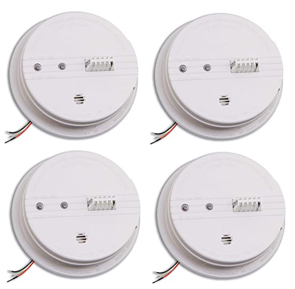Kidde HD135F Fyrnetics Hardwire Heat Detector with Battery Backup (Pack of 4 standart) (Color: pack of 4 standart)