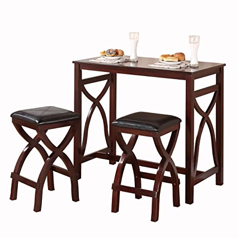 Homelegance 2557-36-3A 3-Piece Counter Height Breakfast/Dining Room Set, Cherry