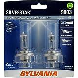 SYLVANIA 9003 (also fits H4) SilverStar High Performance Halogen Headlight Bulb, (Contains 2 Bulbs)