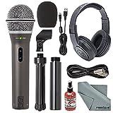 Samson Q2U Handheld Dynamic USB Microphone Recording and Podcasting Kit + Accessory Bundle (Tamaño: Basic)