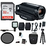 Canon VIXIA HF R800 Camcorder (Black) with 32GB SD Card, Spare Battery, LED Video Light &Supreme Bundle (Color: Black, Tamaño: Premium Bundle)
