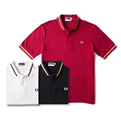 Single Tipped Fred Perry Shirt M2: Maroon