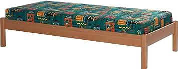 Marco de la cama de madera marco de fotos de madera de haya de tamaño de 140 x 200 cm Niko