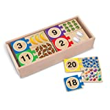 Melissa & Doug Self-Correcting Wooden Number Puzzles With Storage Box (40 pcs)