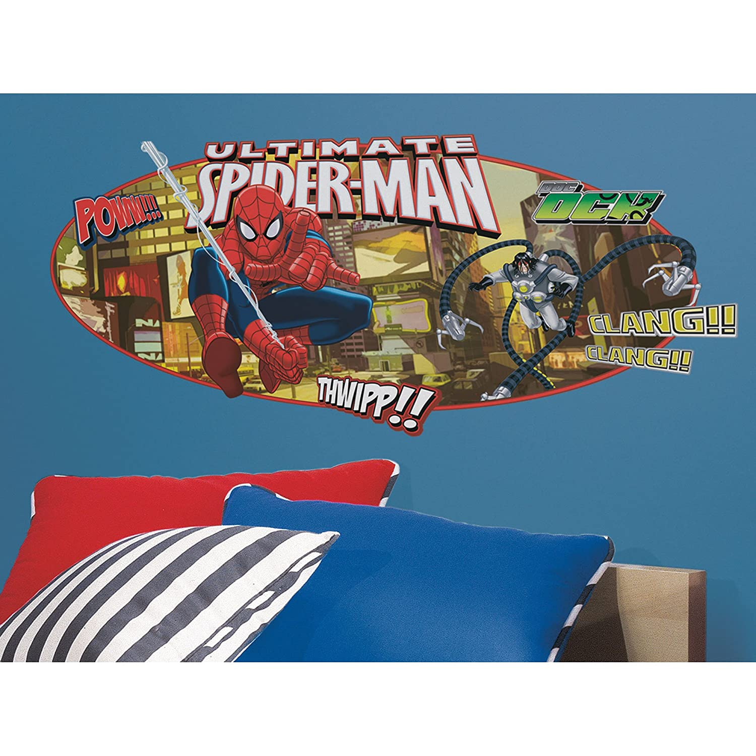 Ultimate Spiderman Headboard Peel and Stick Giant Wall Decal