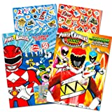Power Rangers Coloring Book Super Set -- 2 Coloring and Activity Books and Over 50 Stickers (Color: Power Rangers, Tamaño: Power Rangers)