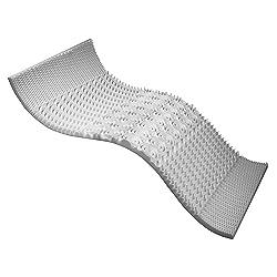 Sleep Better Peaceful Dreams Conventional 5-Zone Foam Mattress Topper, Queen