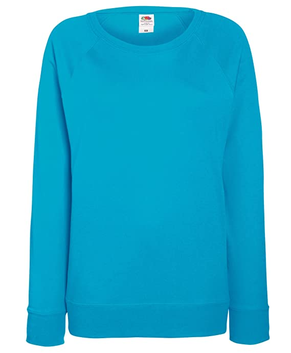 Fruit of the Loom Ladyfit Lightweight Raglan Sweatshirt 14 Colours UK Size 8-18