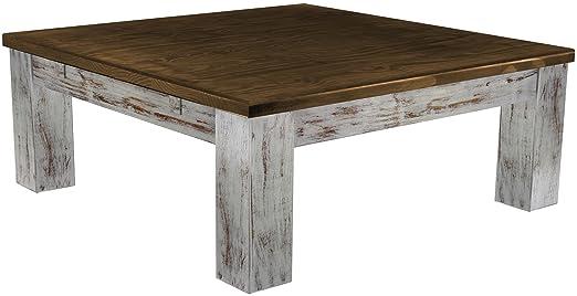 Brasil de muebles de mesa de café 'Rio classico' en varios tamaños y coloures de 25, pino, Shabby LH - Eiche antik, L/B/H: 100 x 100 x 25 cm